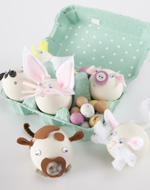 Tara Dennis Easter craft idea - easter friends - With Tara's template make a cute Easter bunny & friends, a fun & delightful Easter egg craft project for the kids