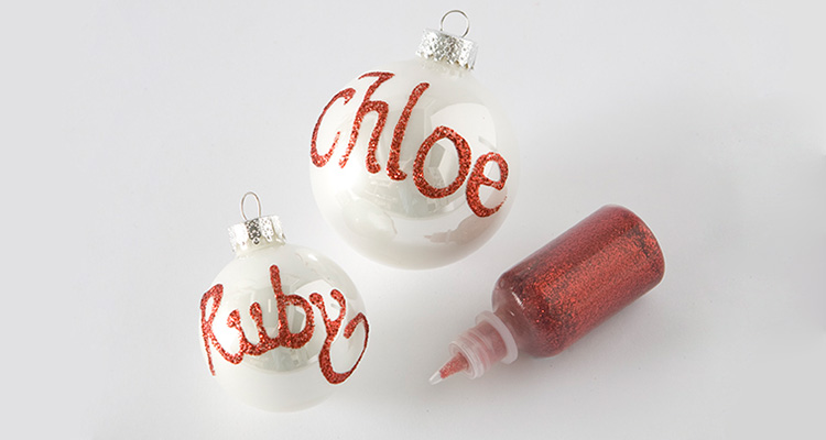 Name Baubles Christmas Celebrate