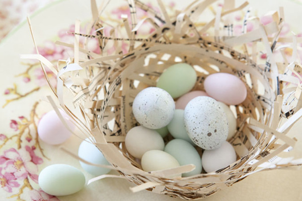 Tara Dennis Easter craft idea - paper nests - perfect for little Easter eggs