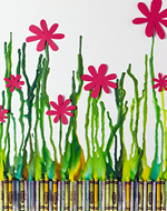 see how to make this colourful crayon art