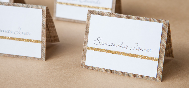 Linen wedding stationery weddings create for Make your own wedding place cards